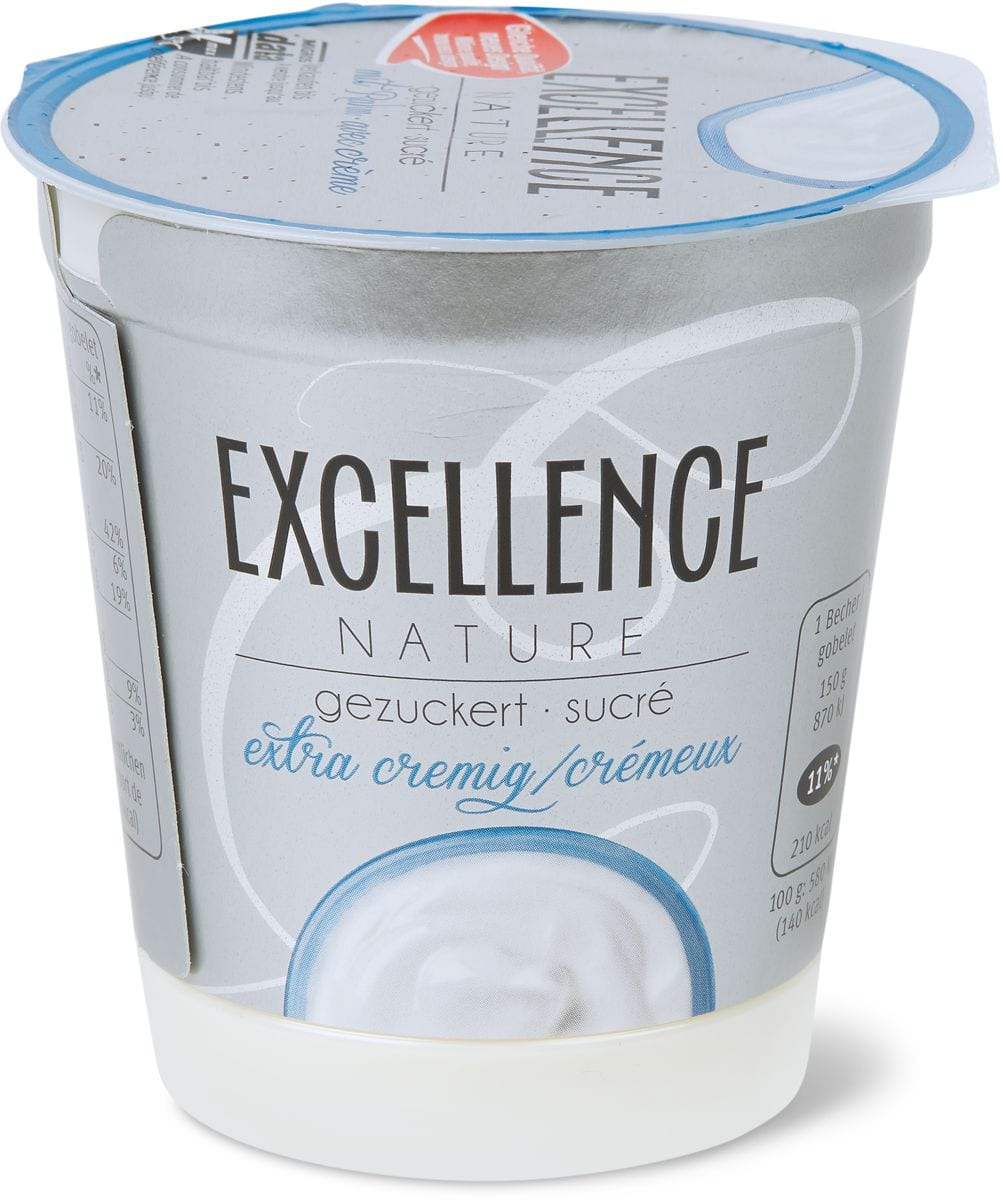 Excellence Joghurt Nature gezuckert