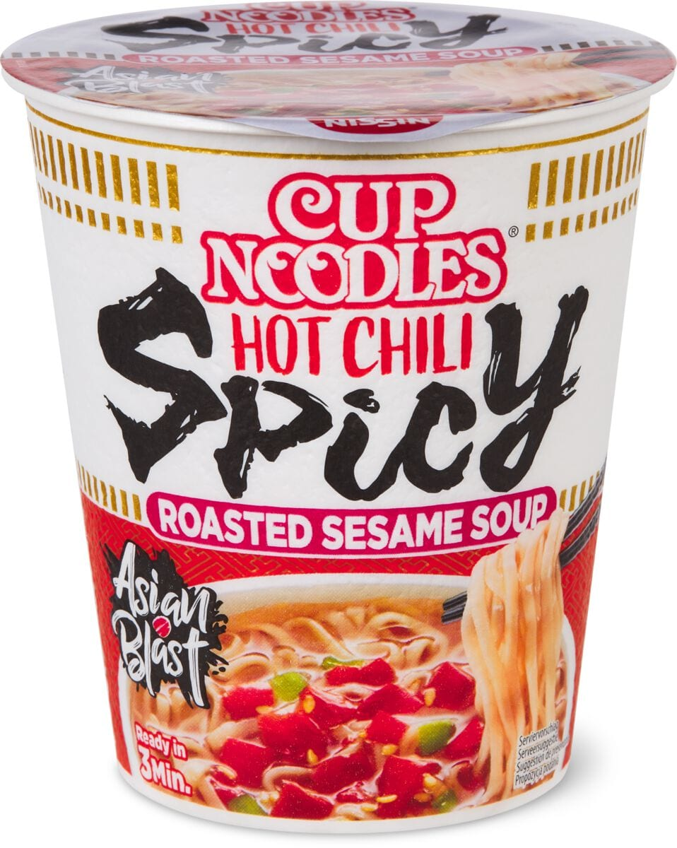 Nissin cup instant Noodles soup spicy
