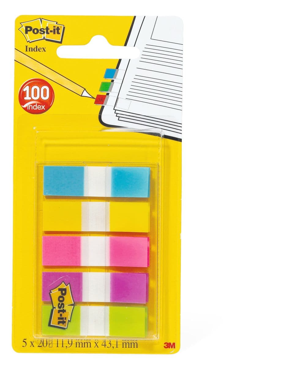 3 M / Post It Index 5 x 20 pièces