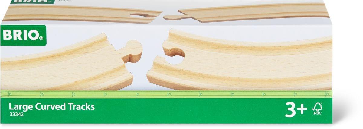 BRIO 1/1 gebogene Gleise 170mm (FSC)