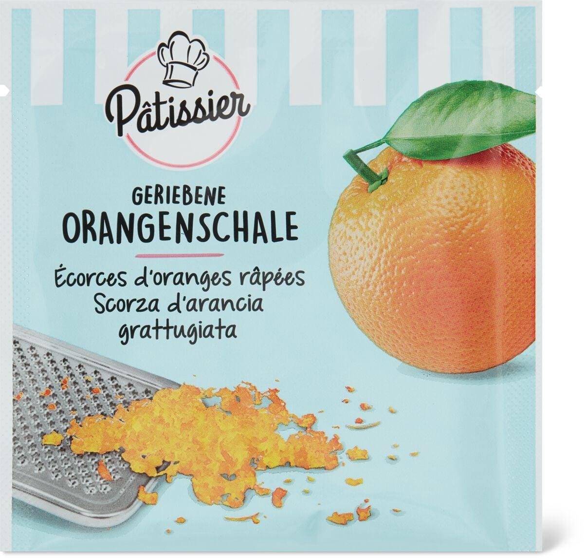Patissier geriebene Orangenschale