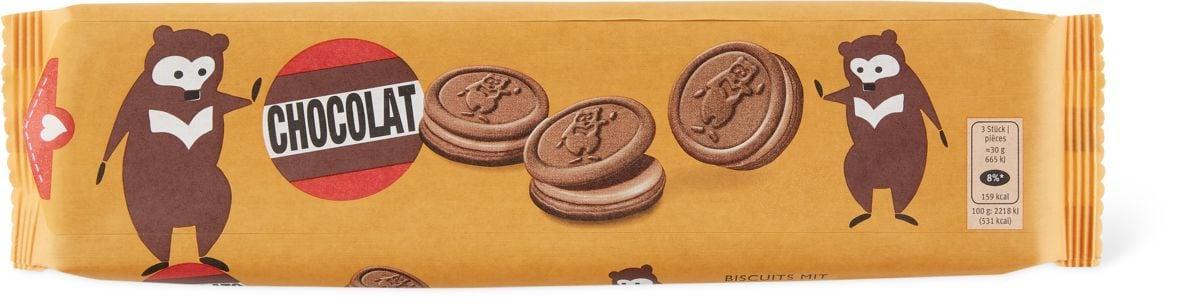 Biscuits fourrés à la crème au chocolat