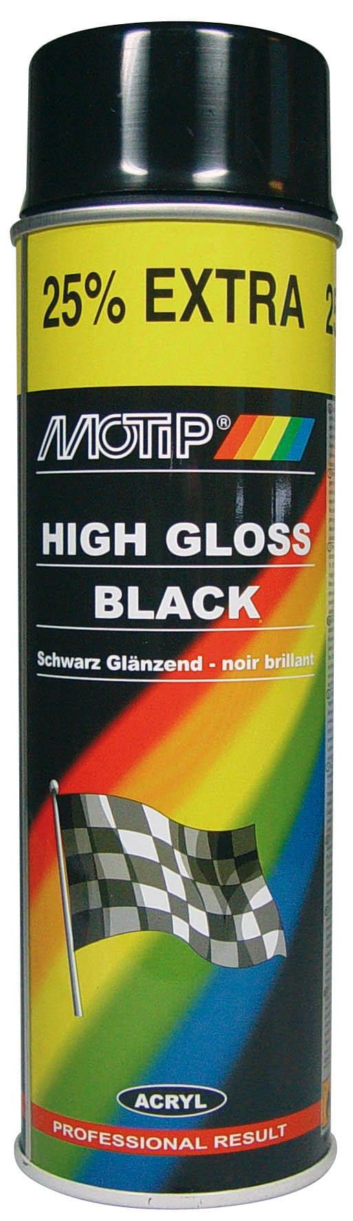 MOTIP High Gloss Black 500 ml Peinture aérosol | Migros