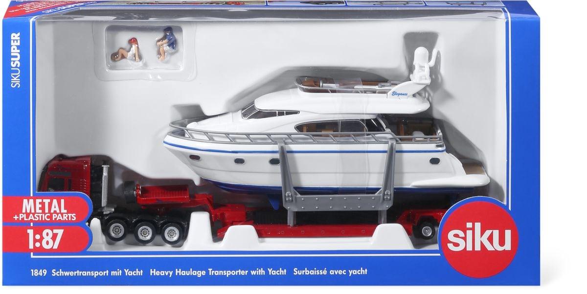 Siku Trasporto eccezionale con yacht 1:87 Macchinine da collezione