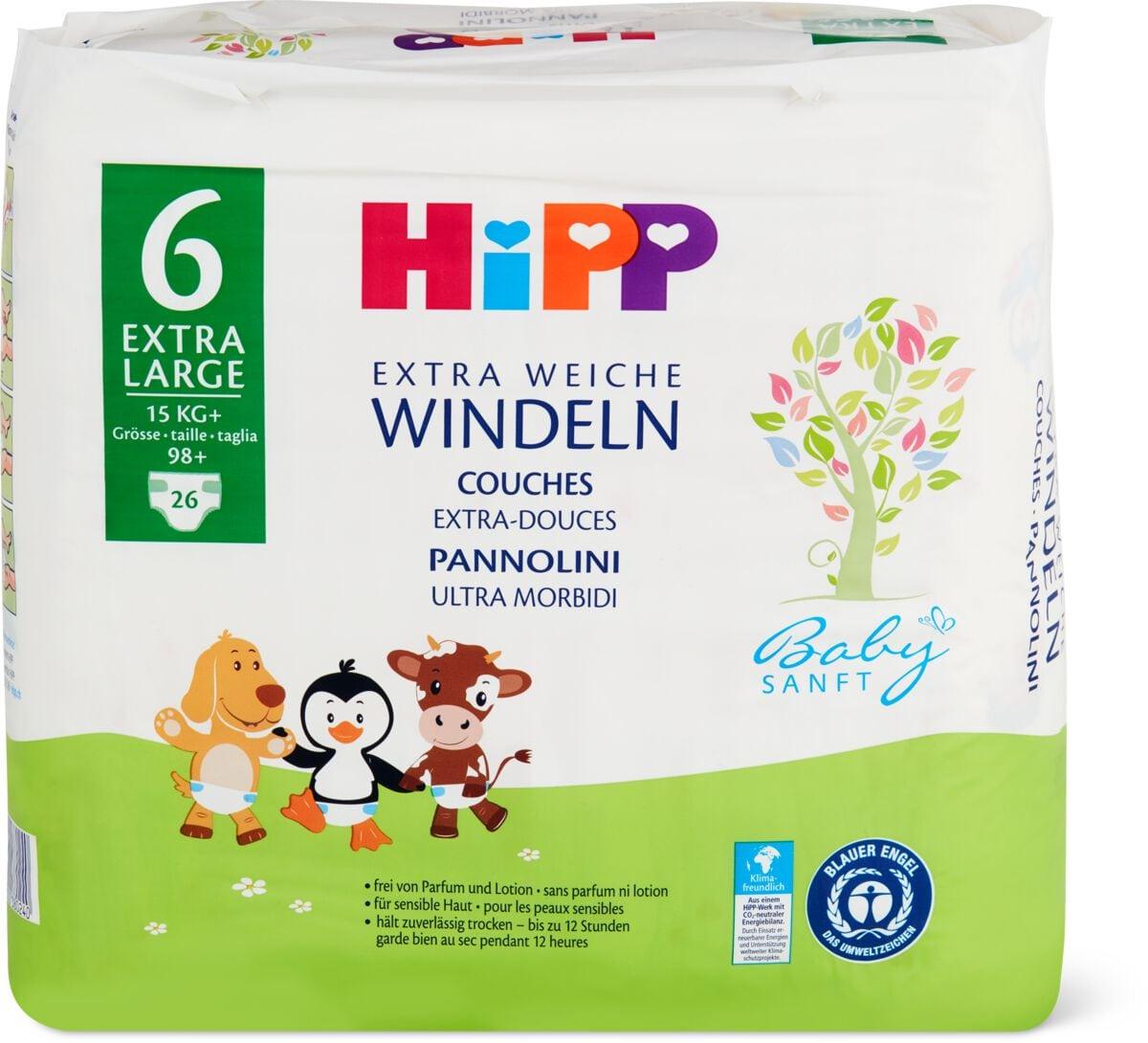 Hipp Babysanft pannolini XL 6