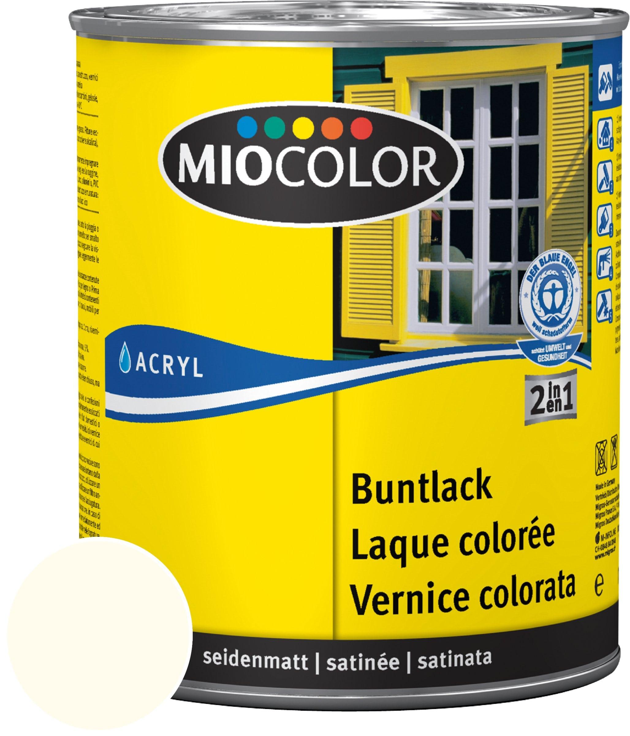 Miocolor Acryl Buntlack seidenmatt Hellelfenbein 750 ml