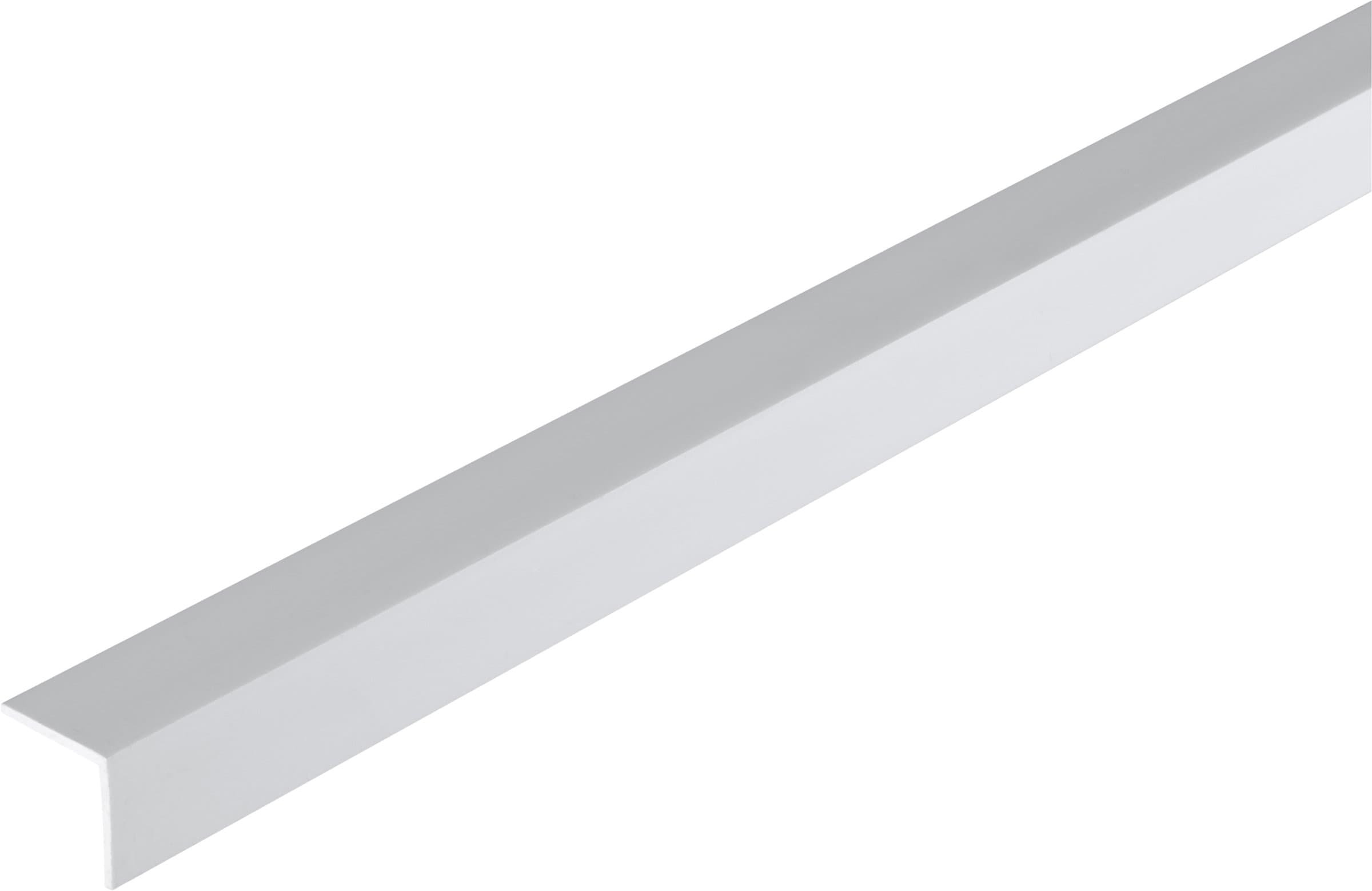alfer Angolare isoscele 15 x 15 x 1.2 PVC bianco 1 m
