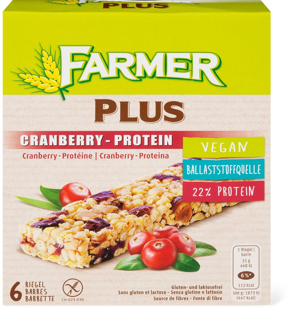 Farmer Plus Cranberry-Protein