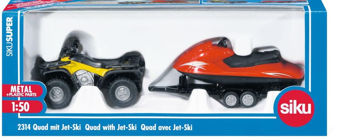 Quad con rimorchio e Jet Ski 1:50