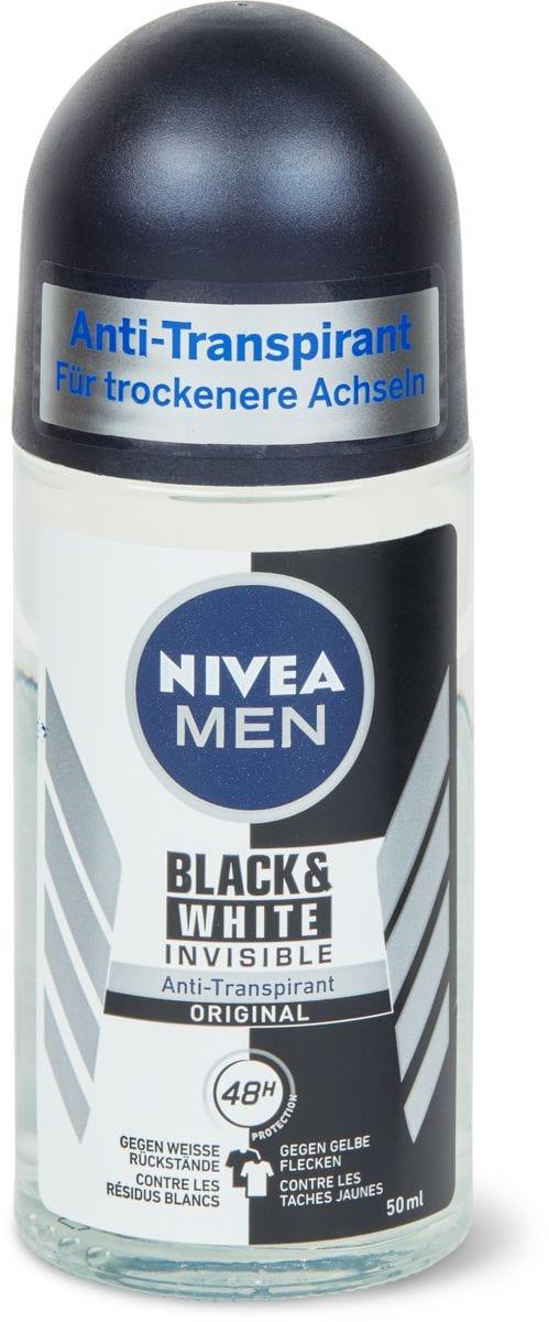 Nivea men deo rollon invisibl.black&white