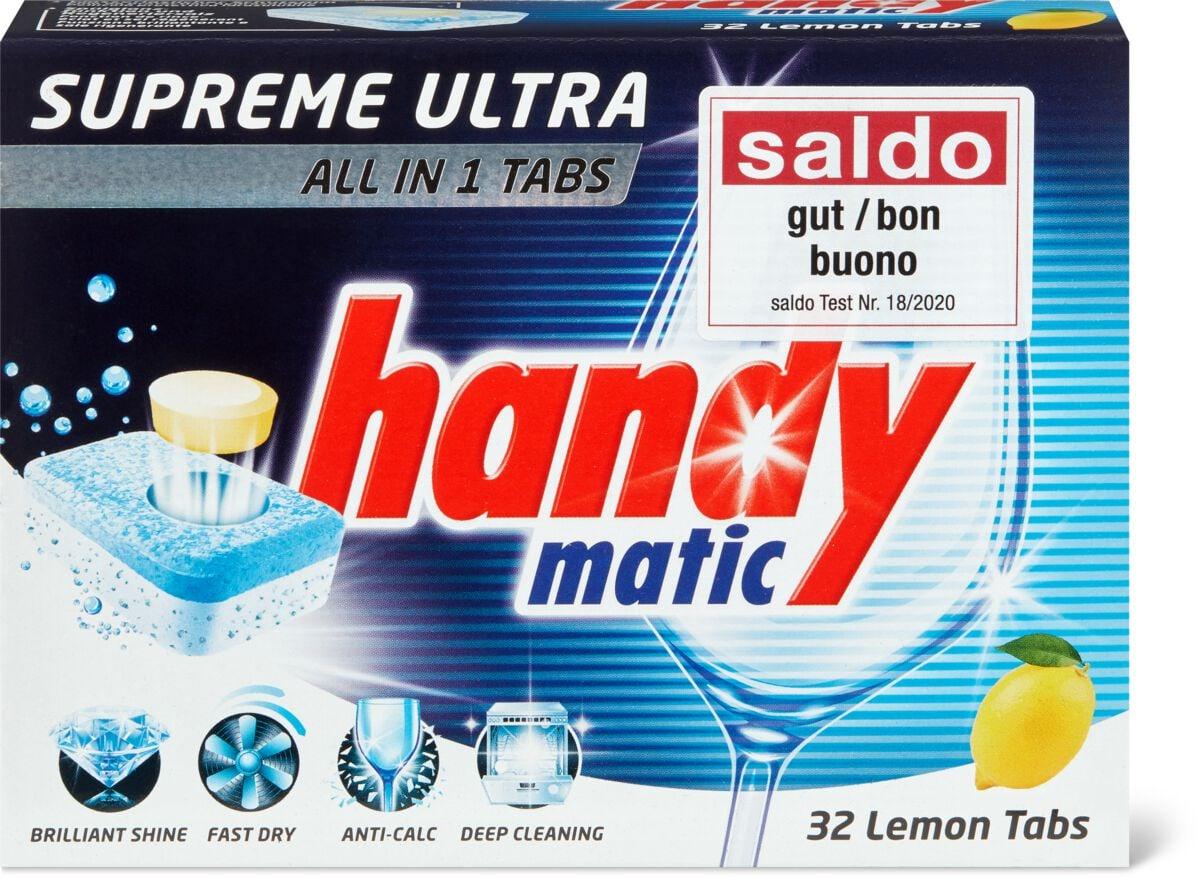 Handymatic Supreme Supreme Ultra All in 1 Lemon tabs pour lave-vaisselle