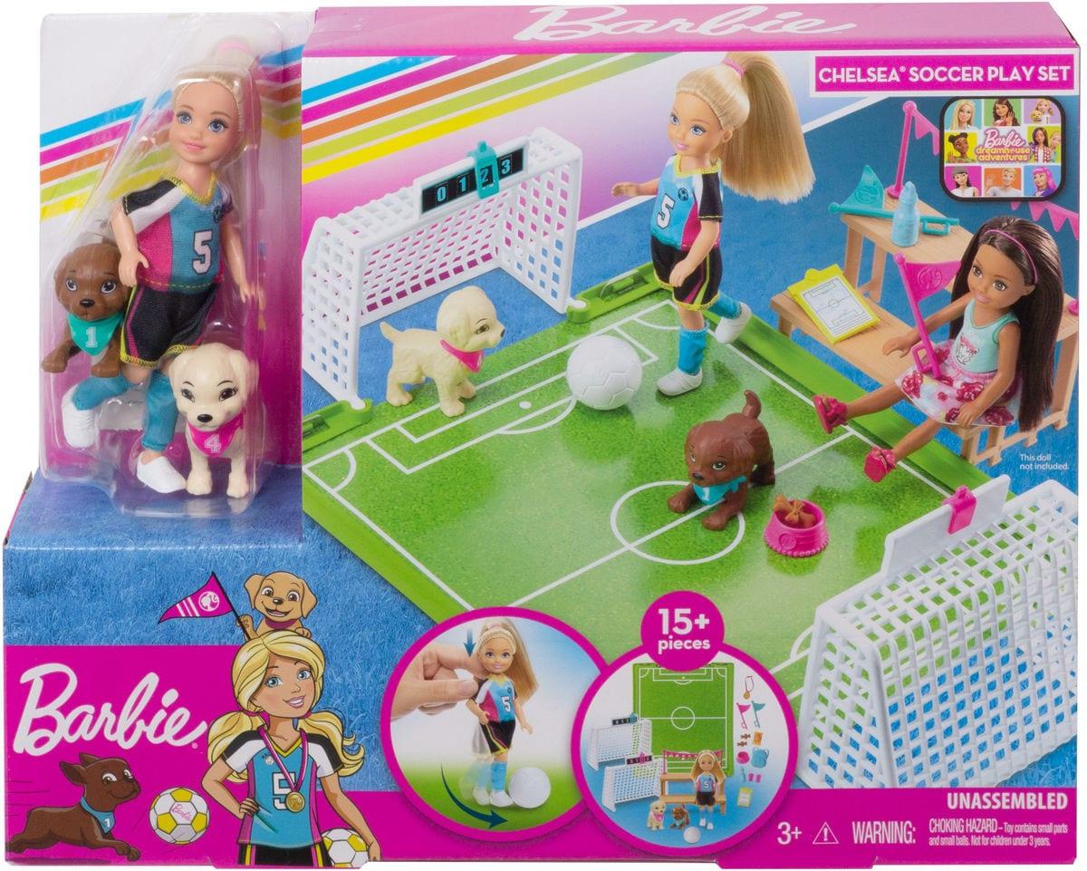 Barbie GHK37 Chelsea Soccer Set di bambole