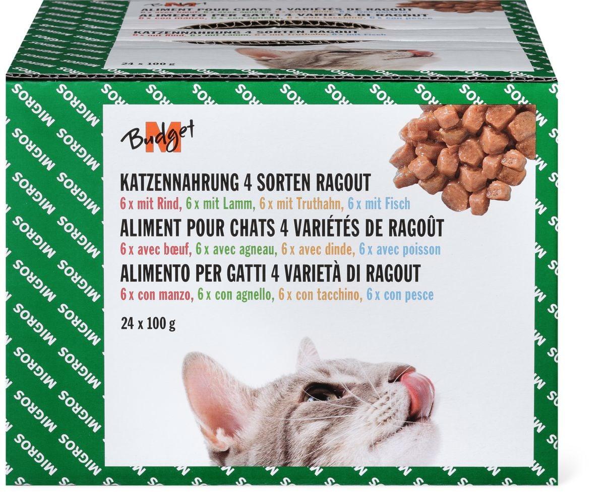 M-Budget Alimento per gatti 4 varietà