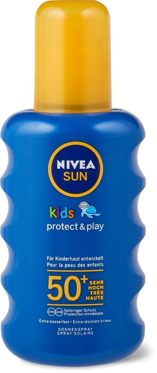 Nivea Sun LSF 50+ kids Spray farbig