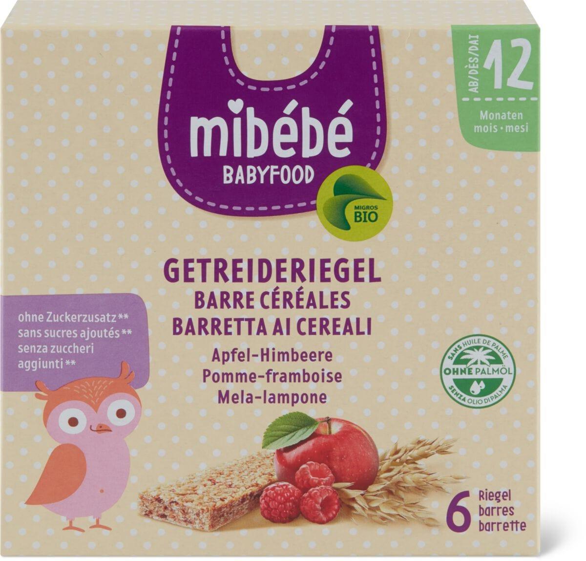 Mibébé Barre cér. pomme-framboise
