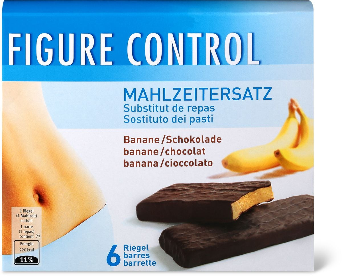 Figure Control banane/chocolat barres