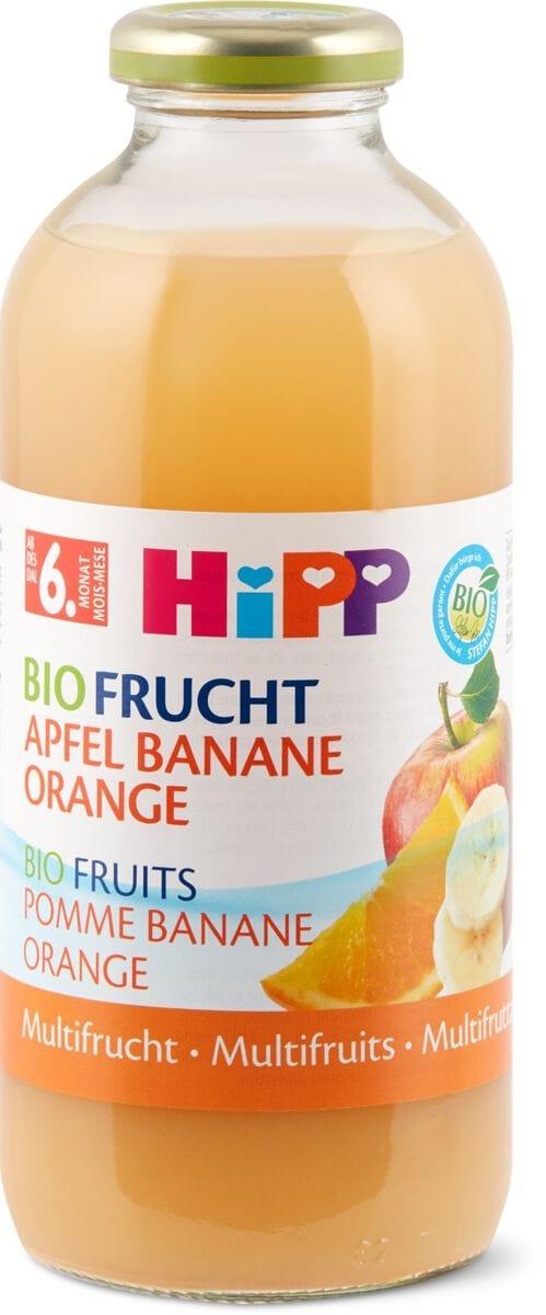 HiPP Fruchtplus pommes bananes oranges