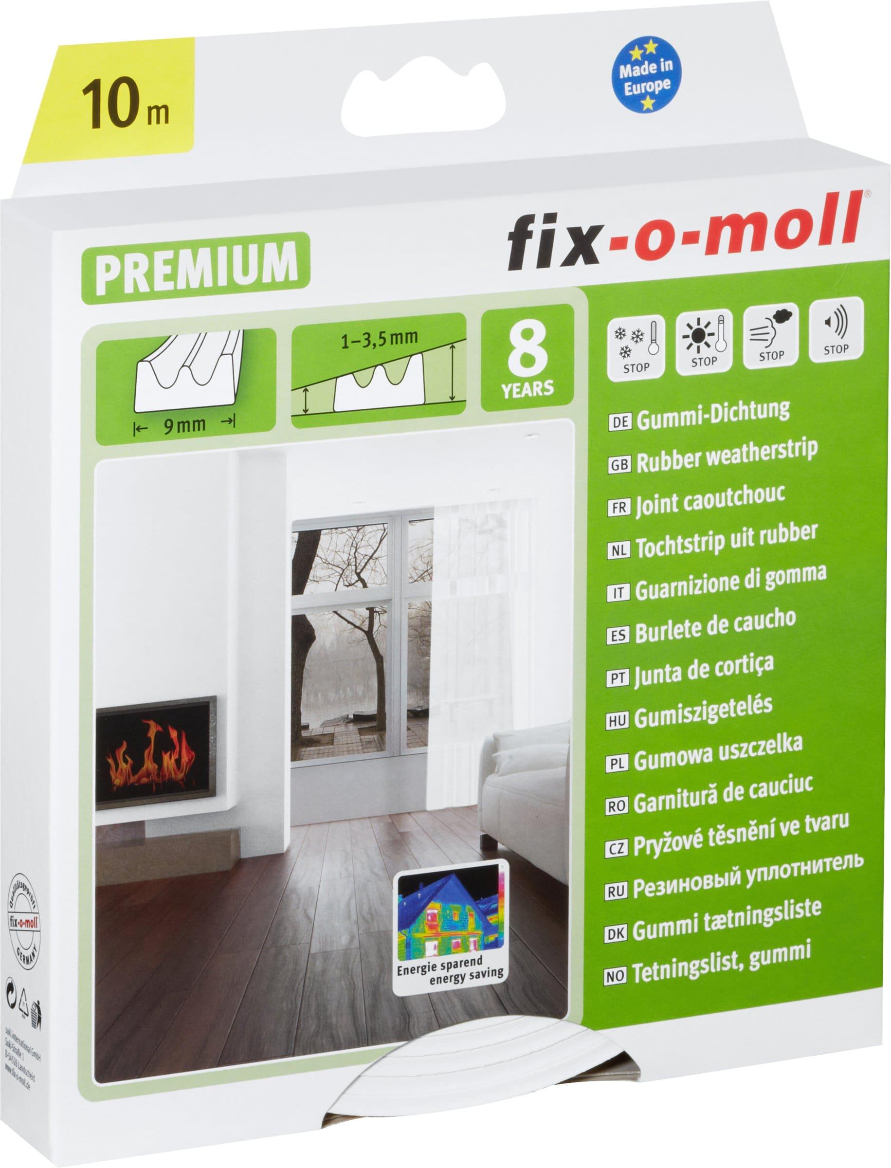 Fix-O-Moll Joint caoutchouc profil E 9 x 4 mm, 10 m