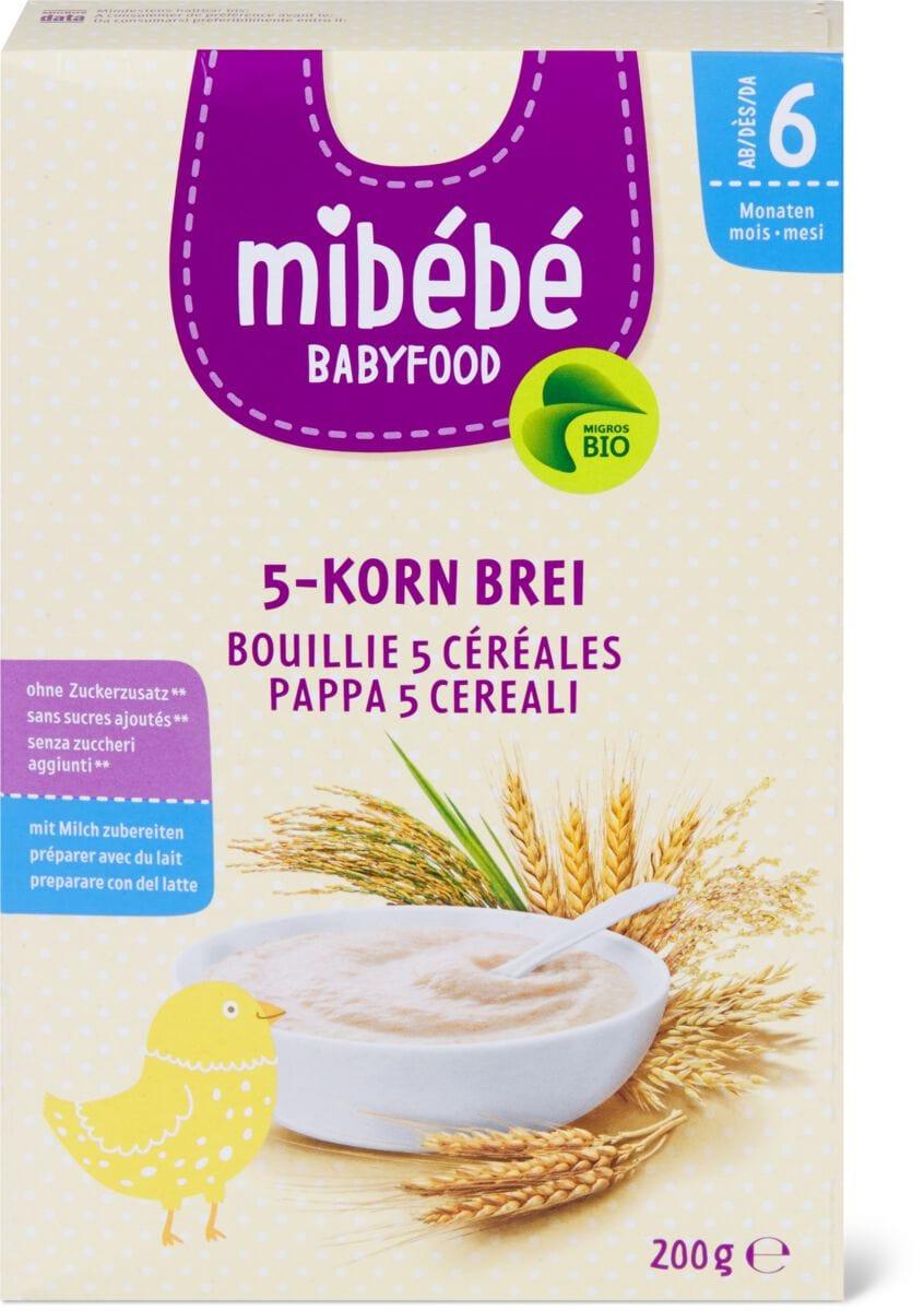 bouillie aux 5 céréales Mibébé