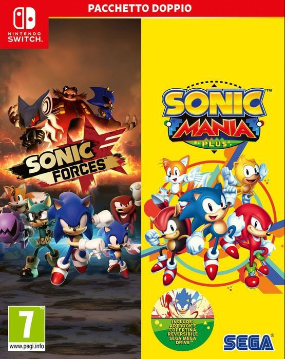 NSW - Sonic Mania Plus and Sonic Forces Double Pack I Box