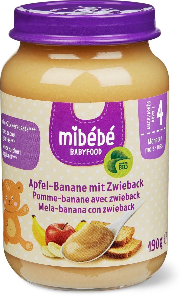Mibébé bananepomme avec zwieback