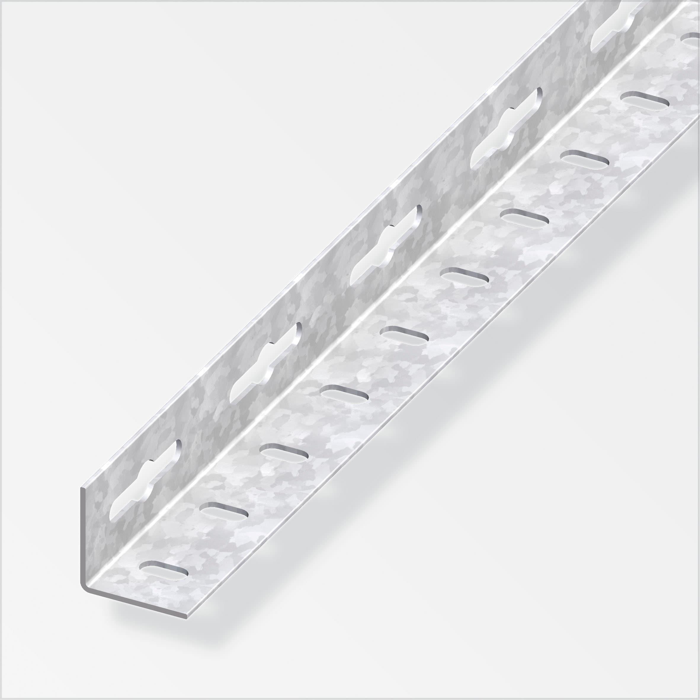 alfer Winkel-Profil gleichschenklig 1.2 x 23.5 mm gelocht verz. 2 m