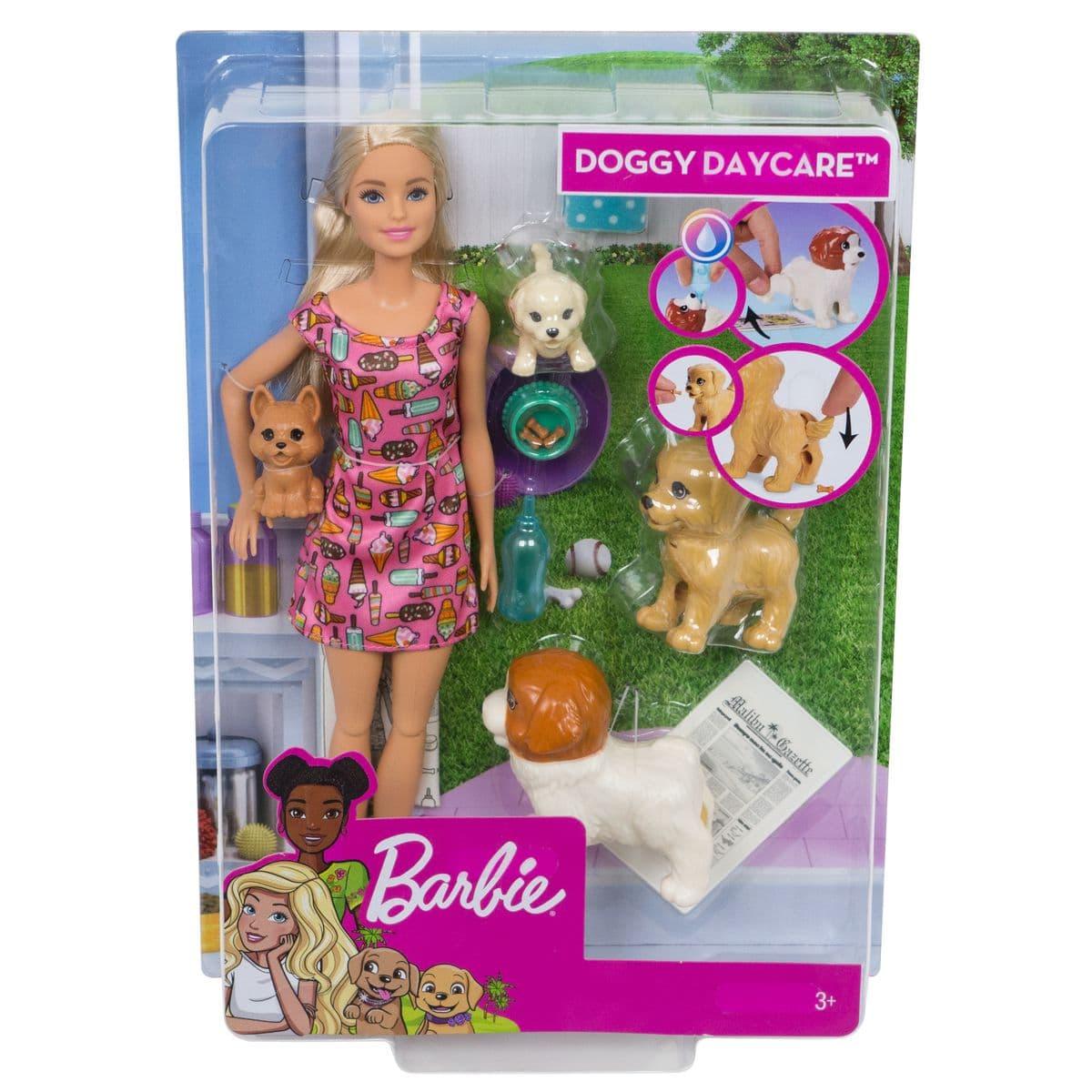 Barbie FXH08 Hundesitterin+Welpen Puppenset