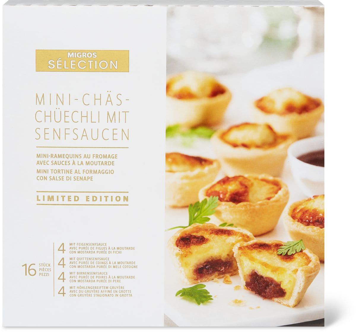 Sélection Mini-Chäs-Chüechli Senfsaucen