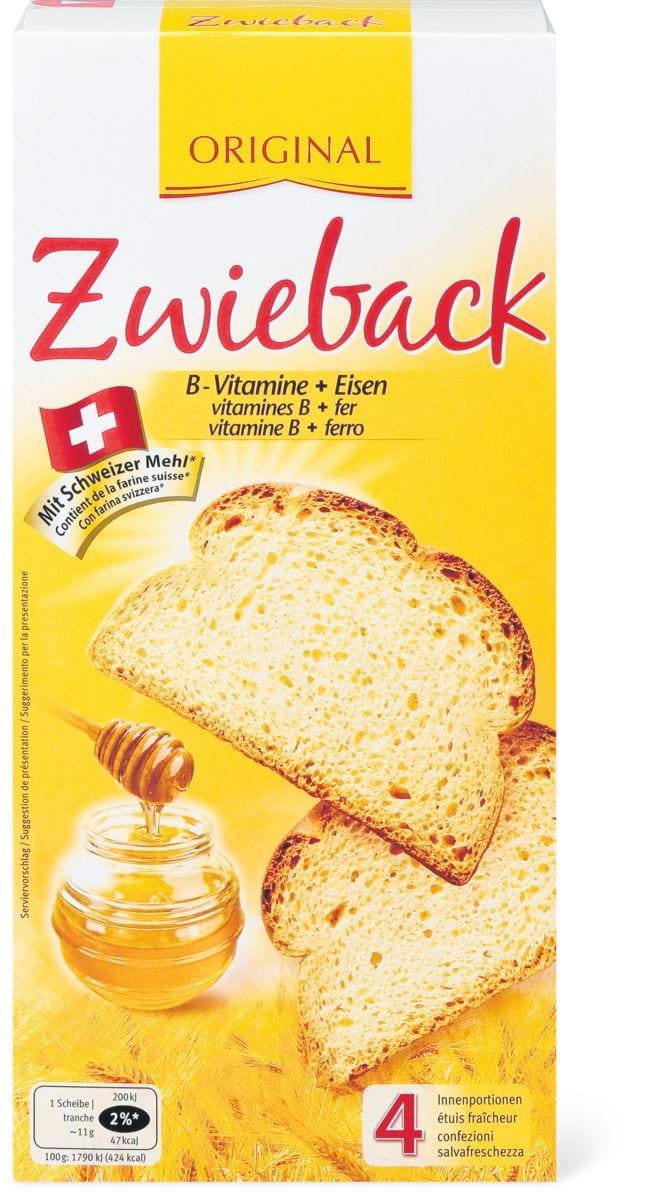 Zwieback Original B-Vitamine + Eisen