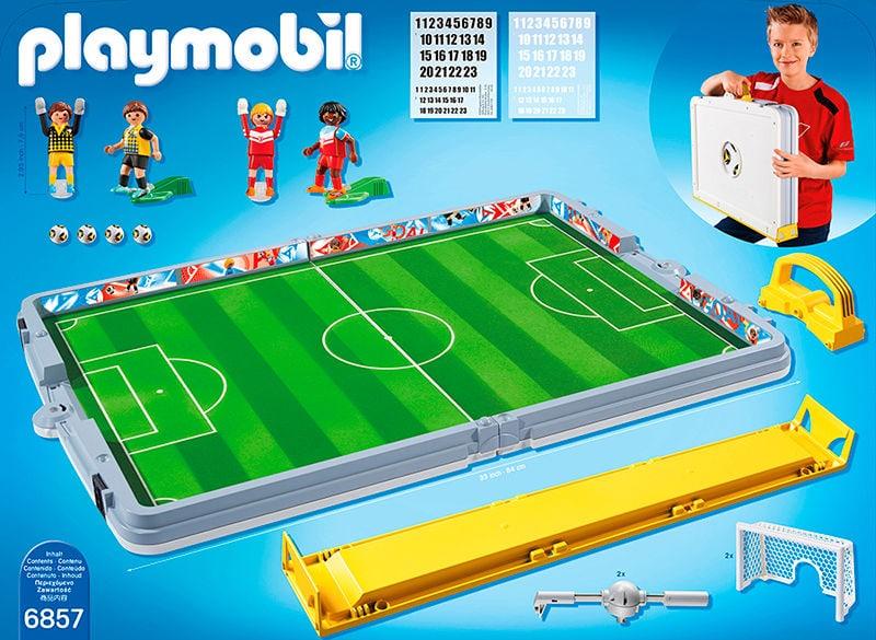 fr playmobil sports action terrain de football transportable