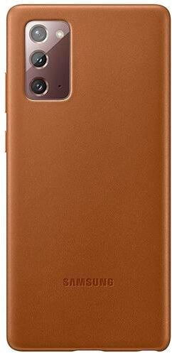 Samsung Leather Cover Note 20 brown Coque