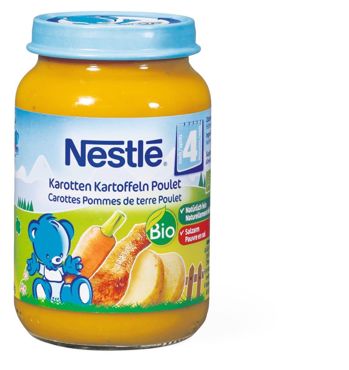 Bio Nestlé carottes pommes de terres poulet