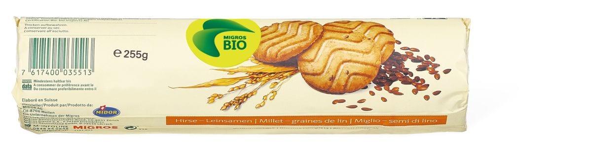 Bio biscotti Miglio-semi di lino