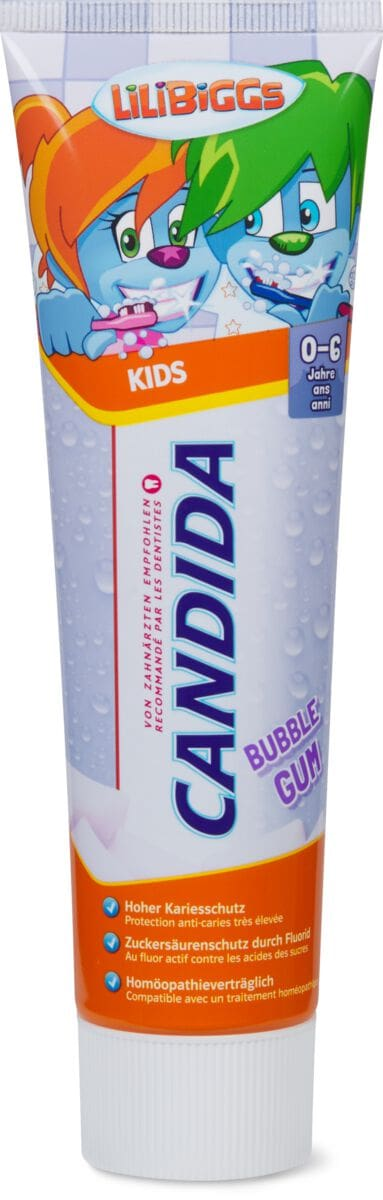 Candida dentifrice Kids Bubble Gum