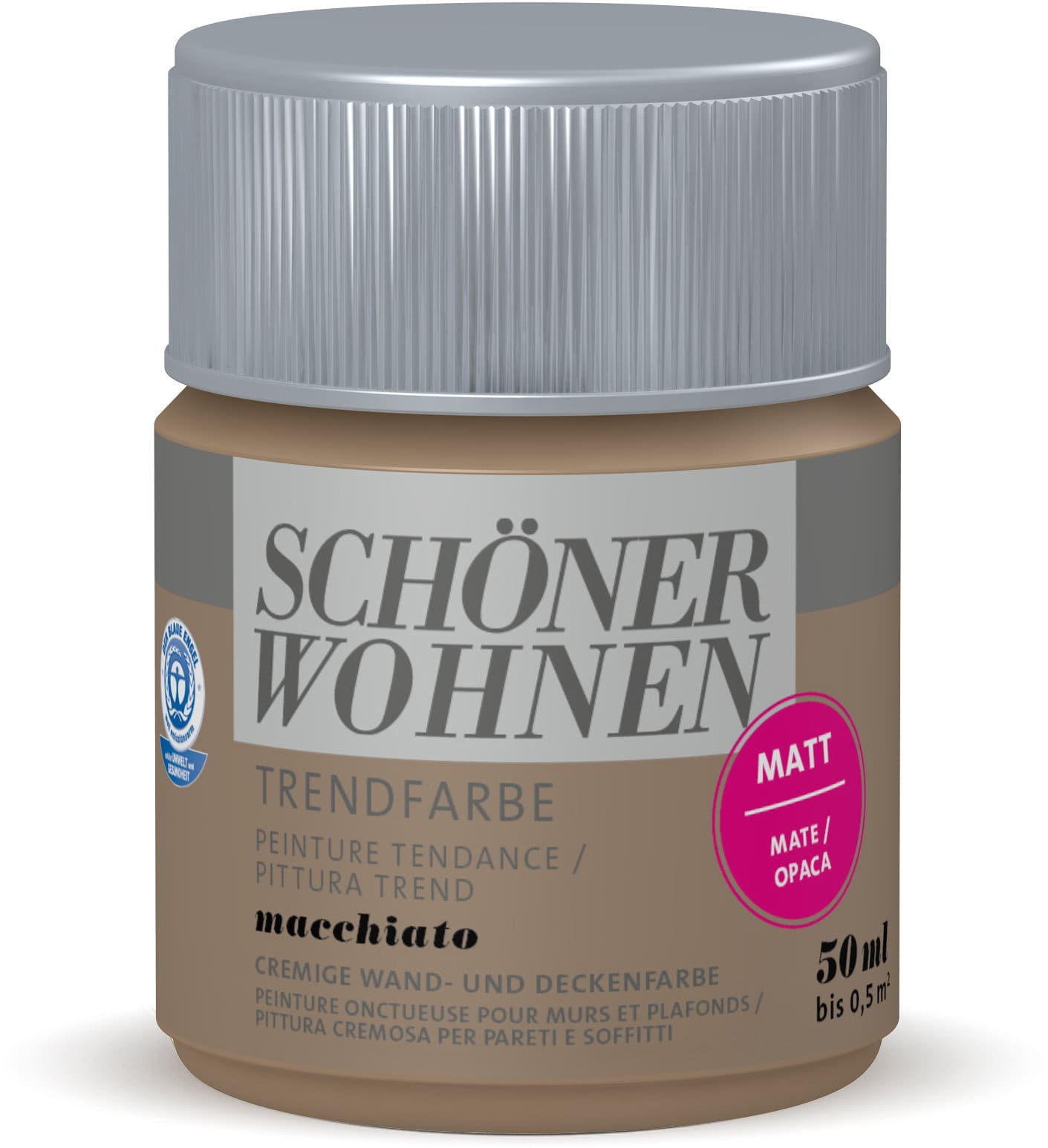 Schöner Wohnen Testeur de couleur tendance Macchiato 50 ml