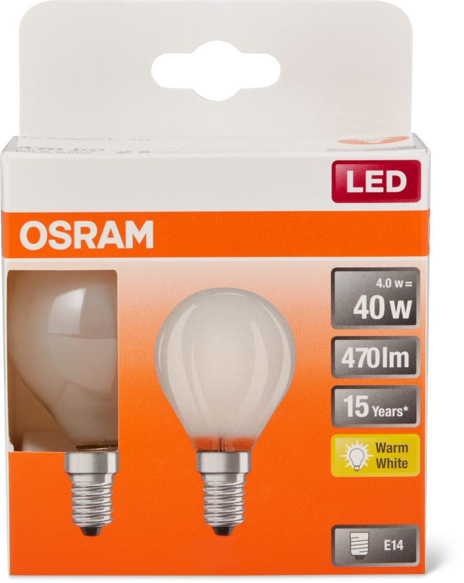 Osram LED BASE MATT CLAS P 40 E14