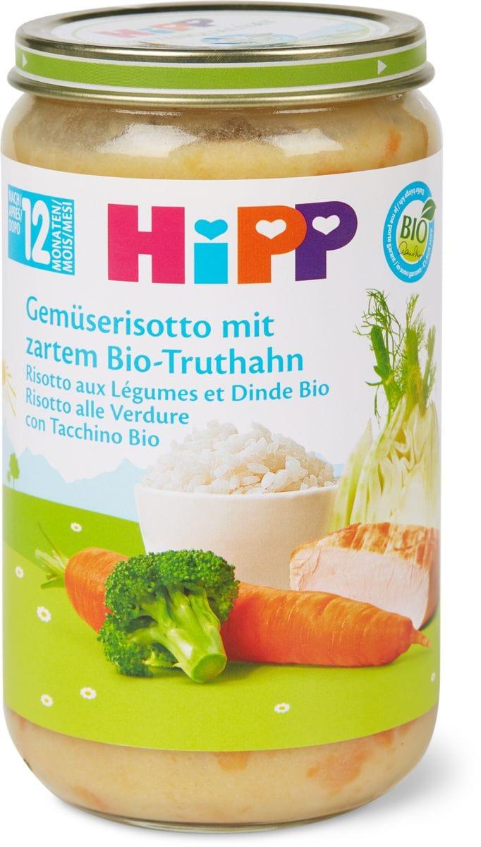 Bio HiPP Risotto aux légumes et dinde