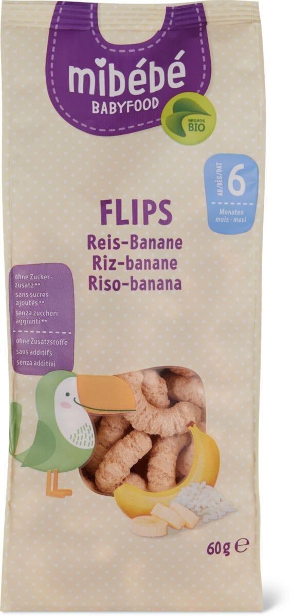 Mibébé Flips di riso con banana