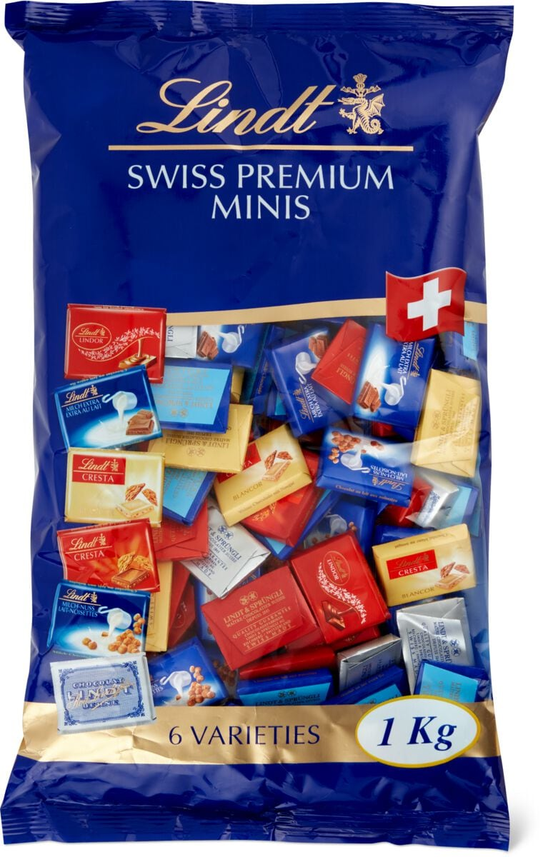 Lindt Swiss Premium Choc. Naps ass.