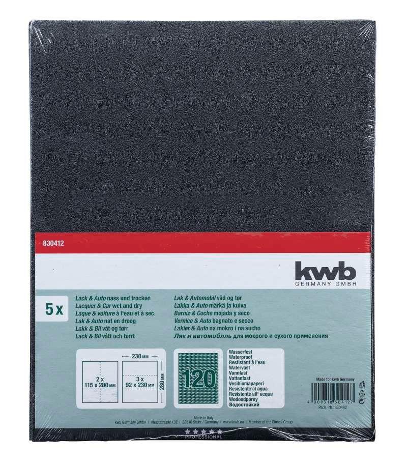 kwb Papier à l'eau GR. 120, 5 pcs.