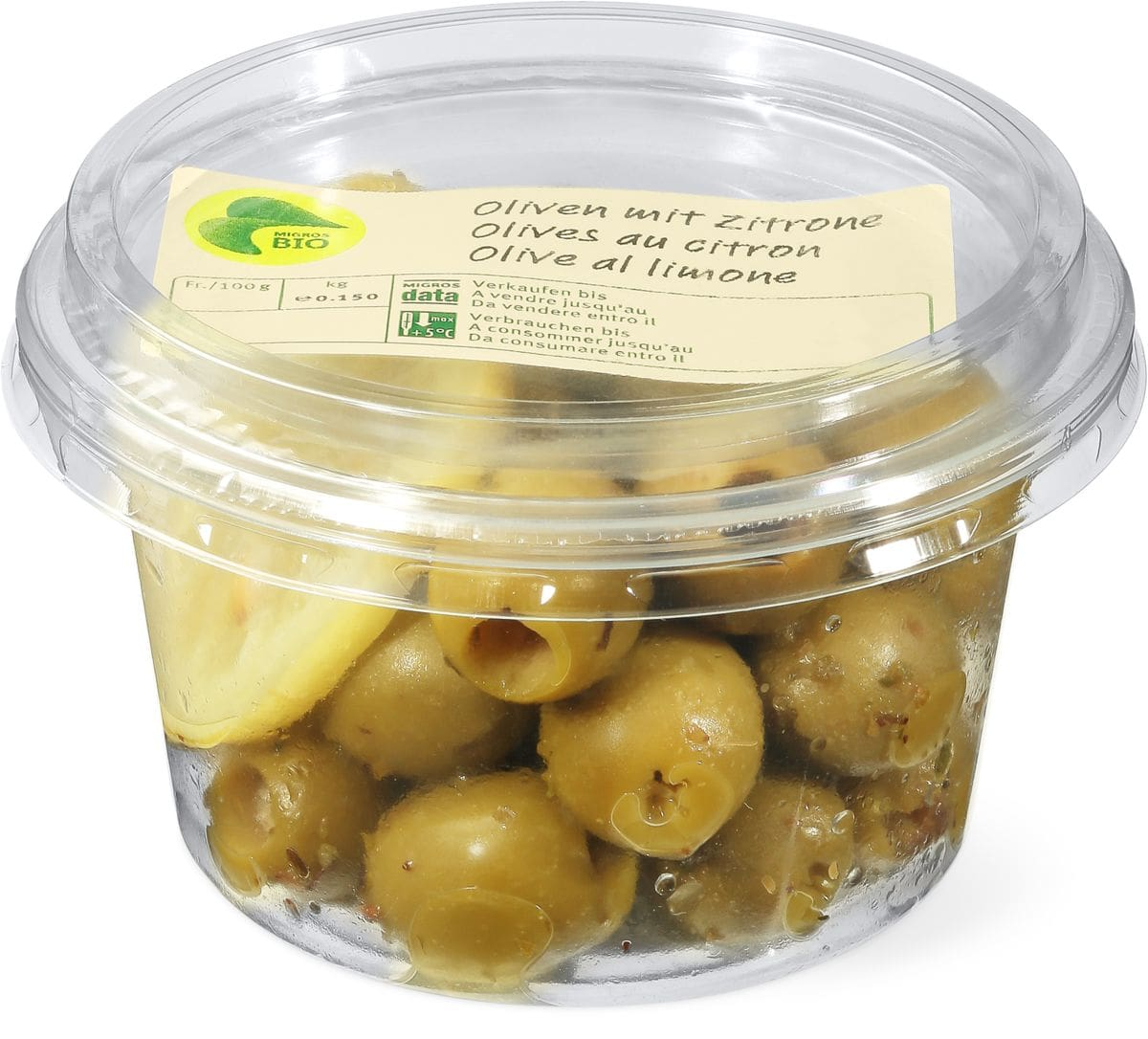 Bio Oliven mit Zitrone