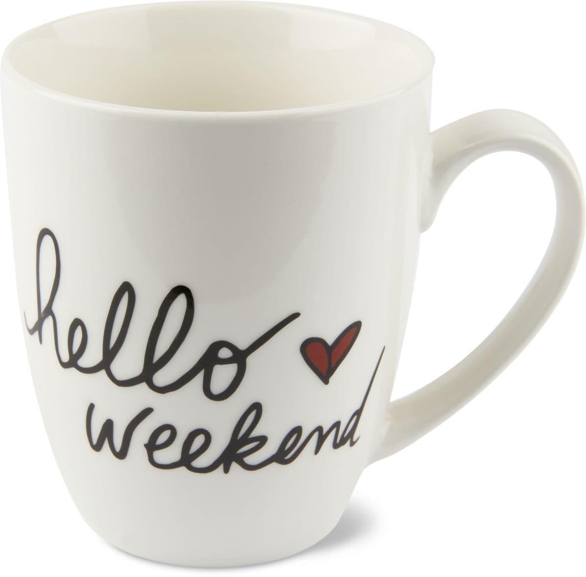 Cucina & Tavola Tazza Hello Weekend, 390ml