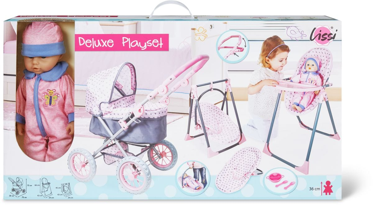 Lissi Dolls Mega Deluxe Playset 4 IN 1
