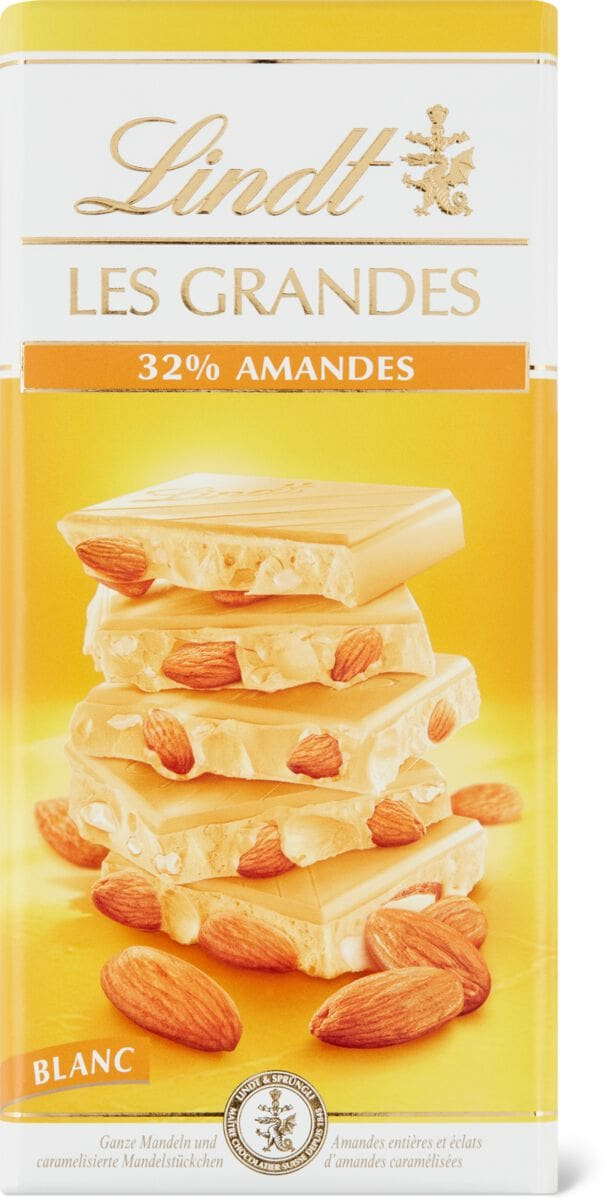 Lindt Les Grandes Blanc Amandes 32%