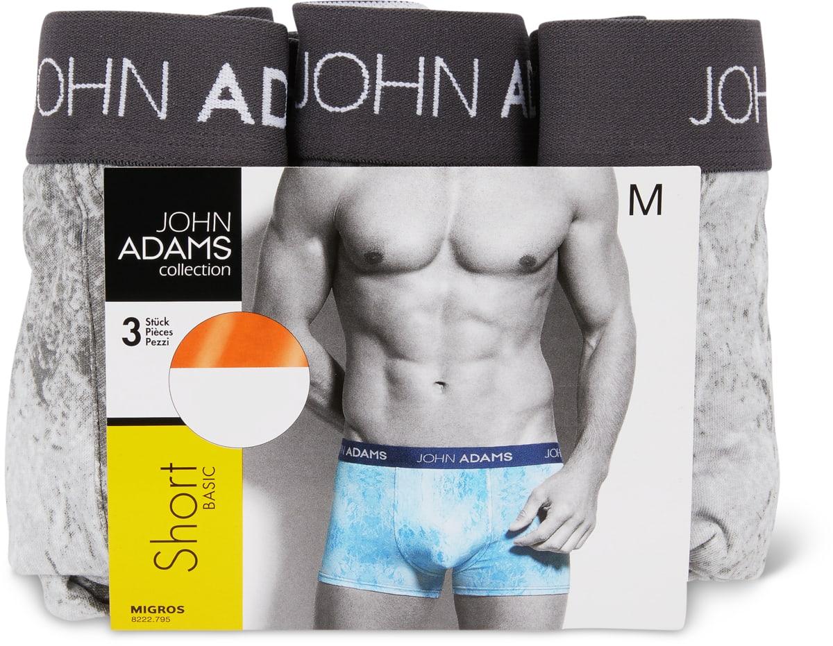 John Adams Herren-Short oder -Slip im 3er-Pack