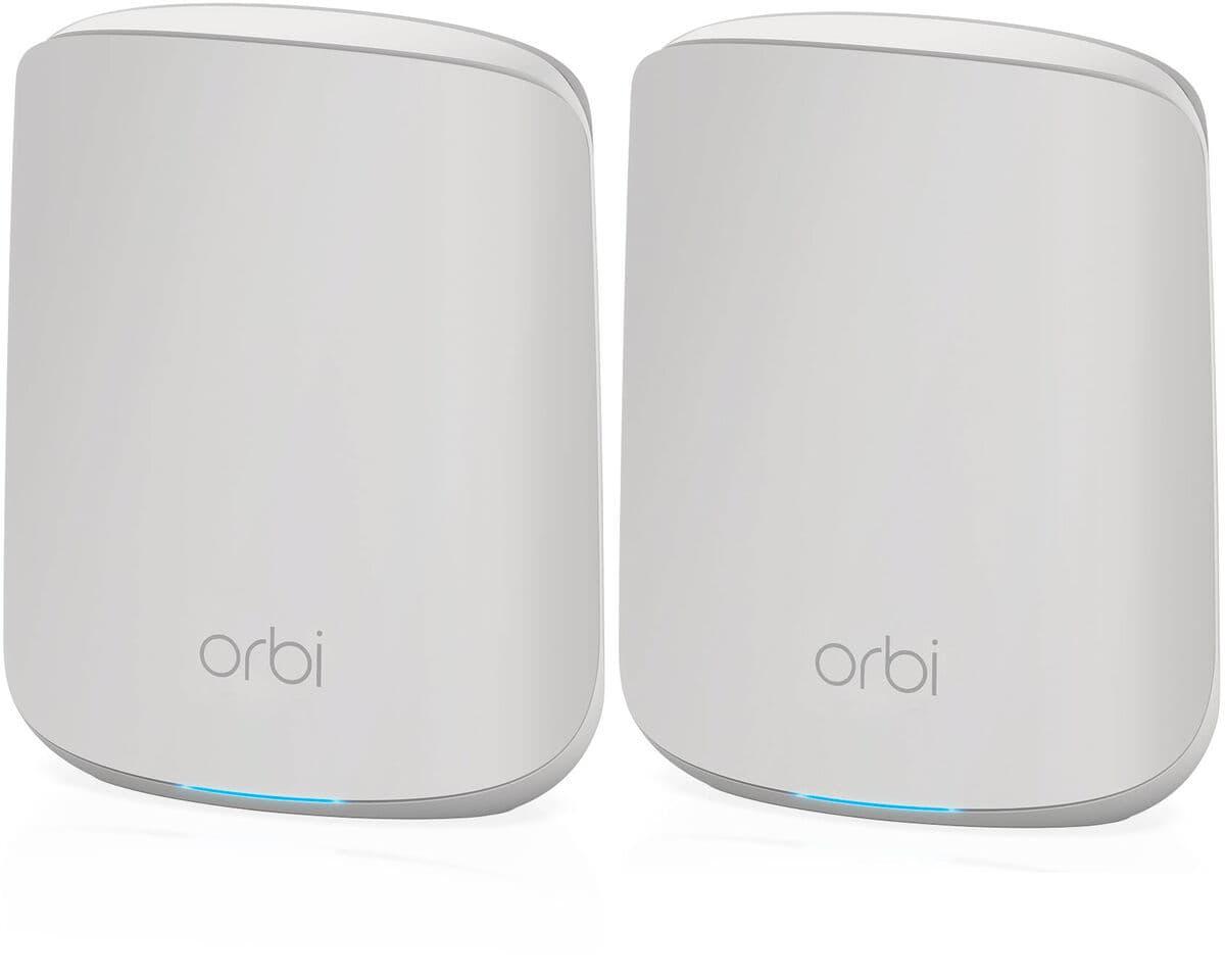 Netgear RBK352-100EUS Orbi WiFi 6 AX1800 Tri-Band Mesh System (1x Router RBR350, 1x Satellit RBS350) MESH WLAN