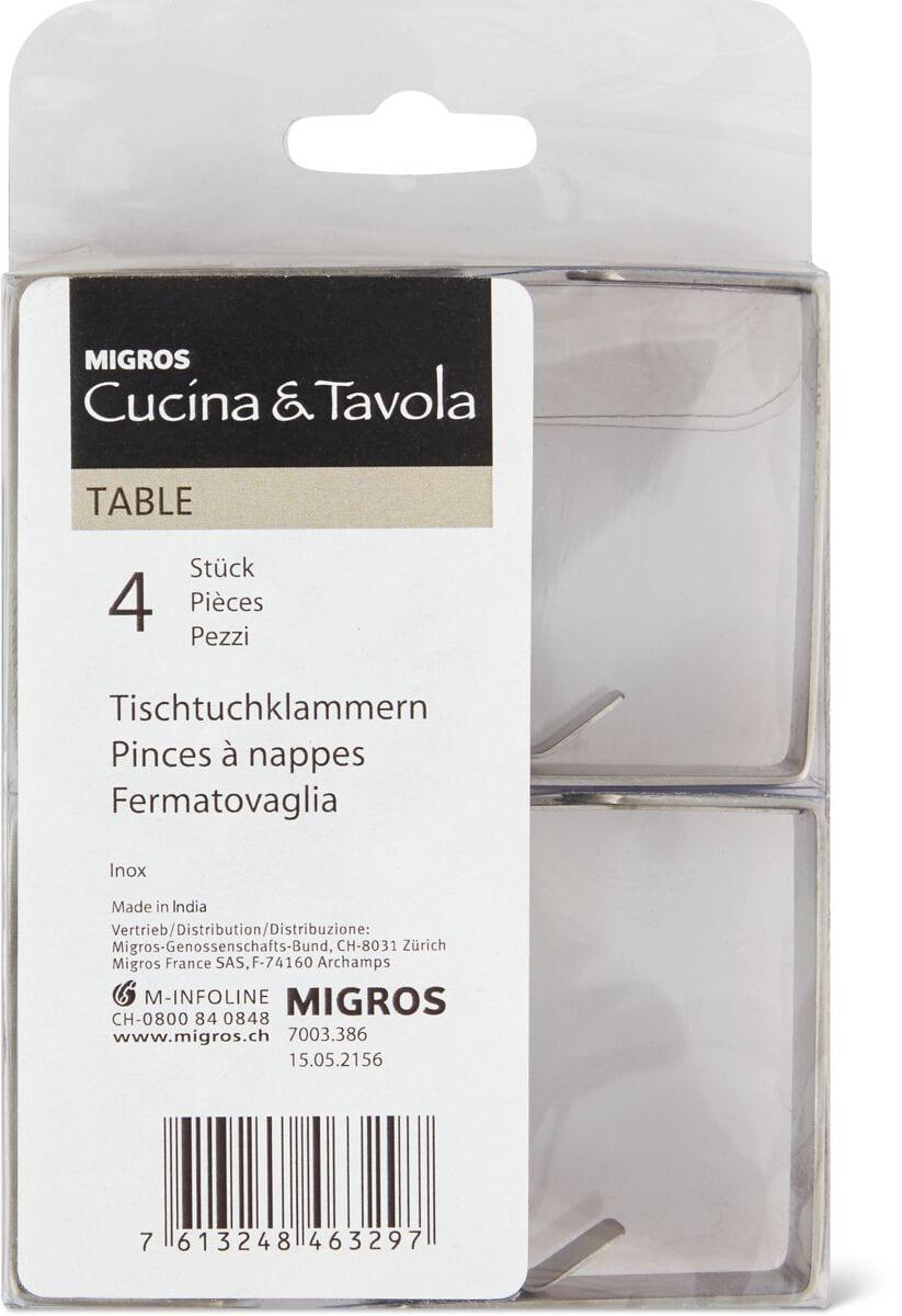 Cucina & Tavola Tischtuchklammern 4er