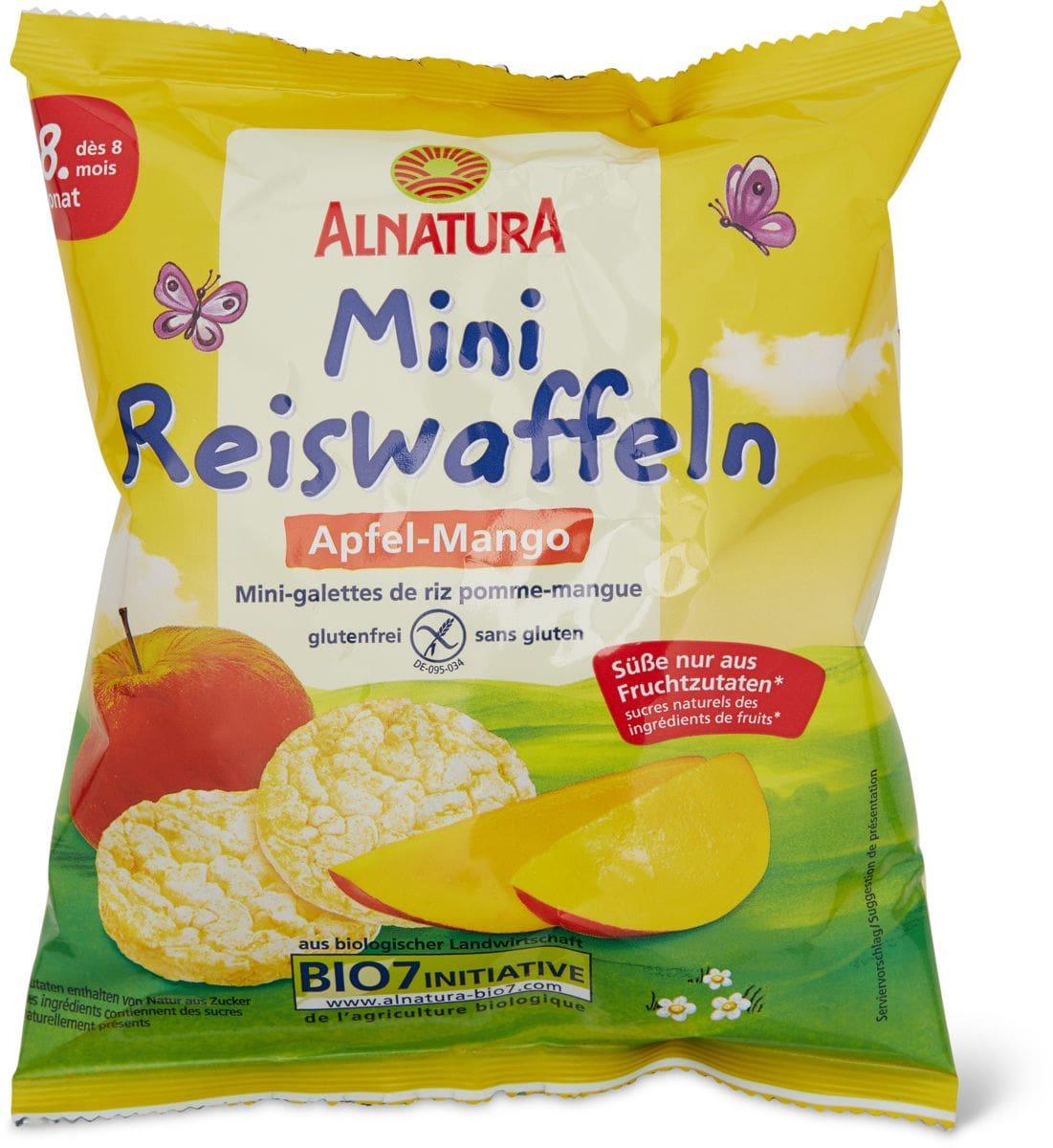 Alnatura Mini-galettes de riz pomme-mangue