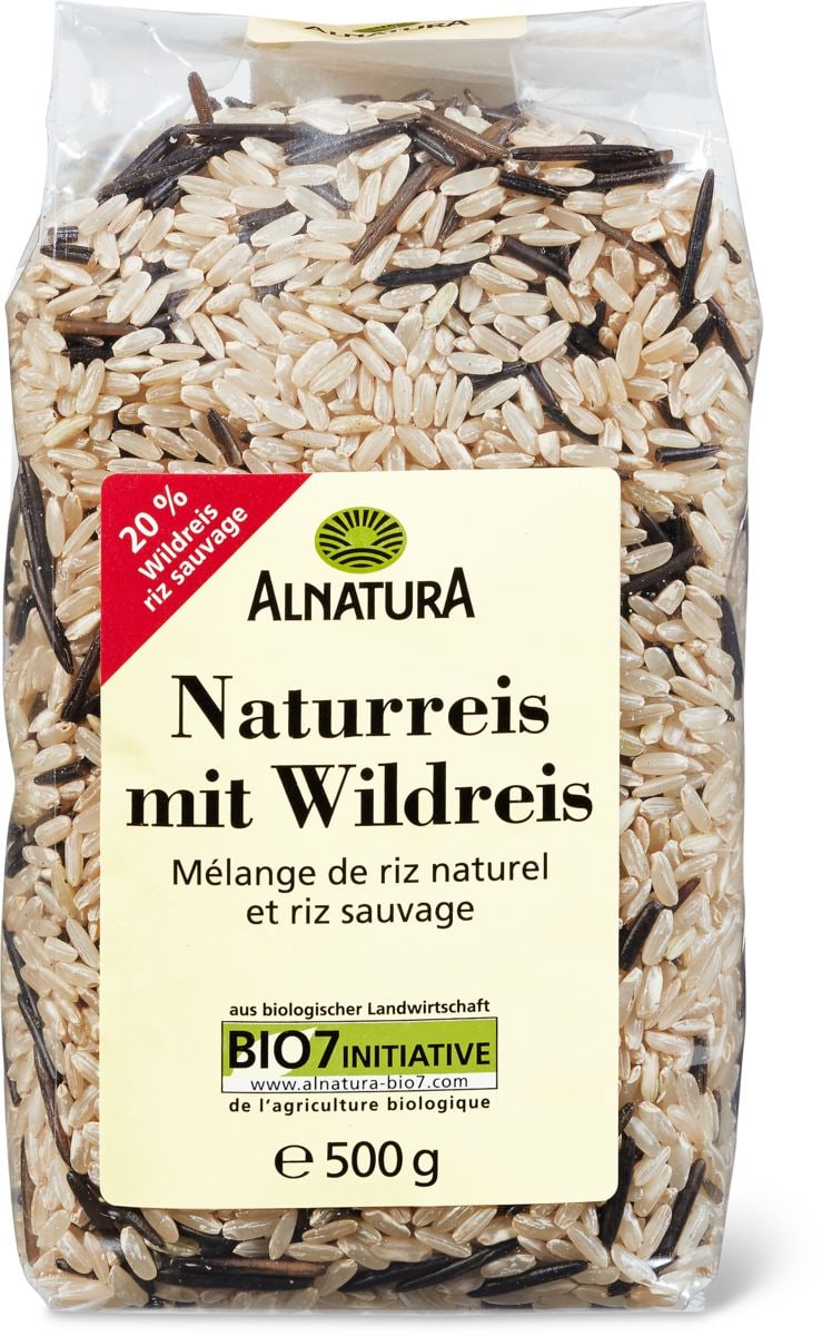 Alnatura riz natur. Avec riz sauvage