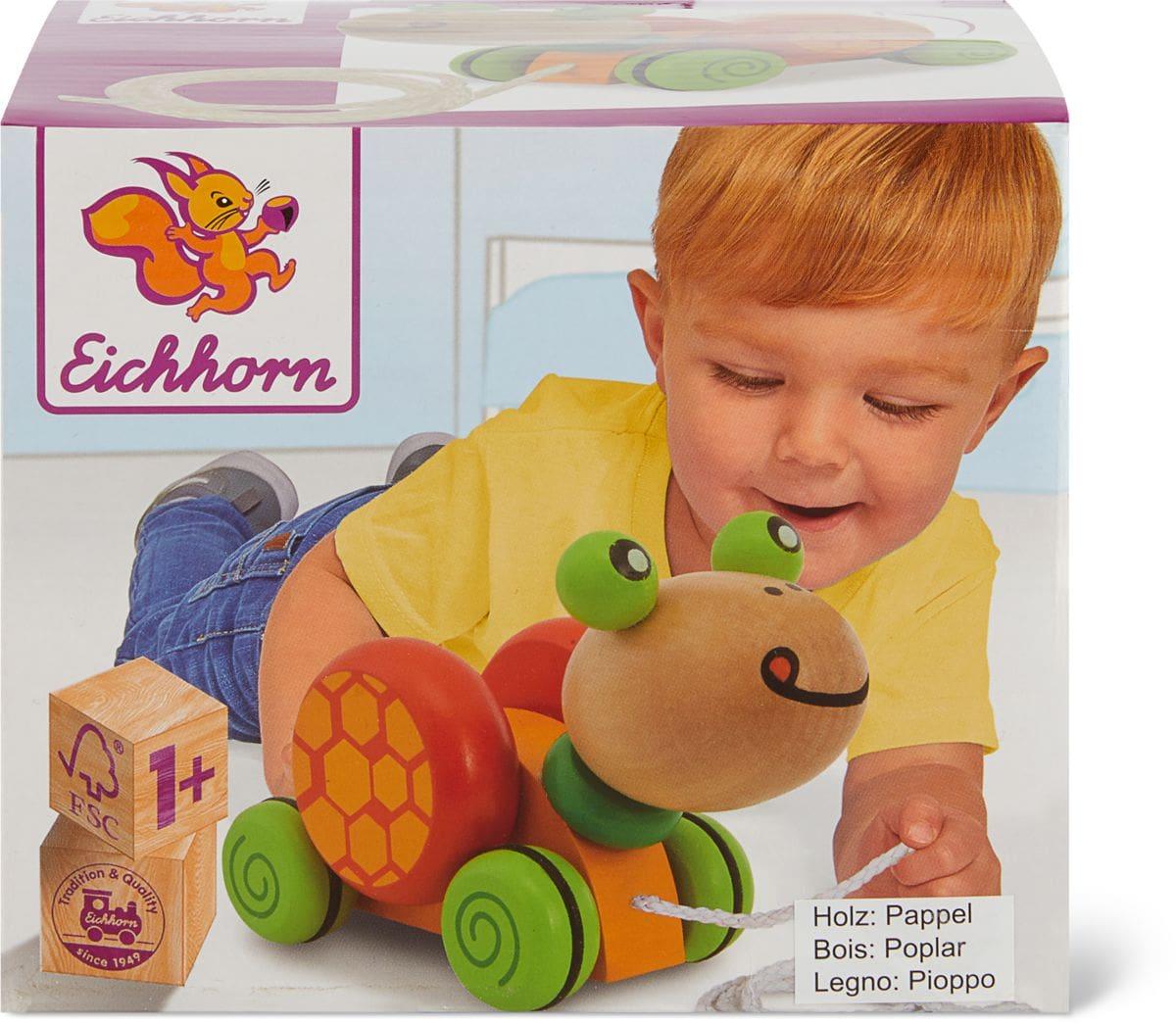 Eichhorn Pull-along Animal Turtle Set di giocattoli